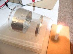 イオン風の実験の電源オフ